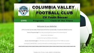 Columbia Valley Youth Soccer Association