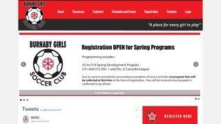Burnaby Girls Soccer Club